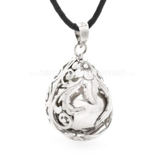 Teardrop Antique Sterling Silver Harmony Ball