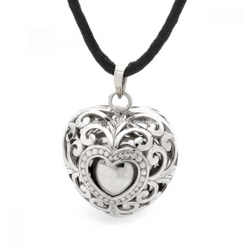 Silver Hearts Lace Sterling Silver Harmony Ball