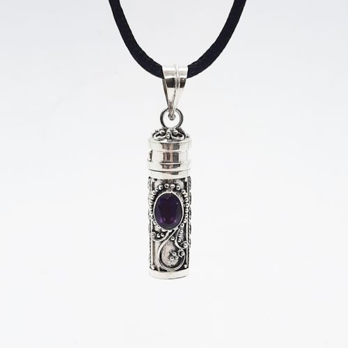Amethyst Keepsake Locket Pendant