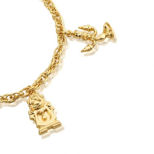 Beauty and the Beast Gold Charm Bracelet