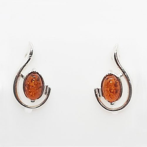 Genuine Baltic Amber Stud Earrings 226