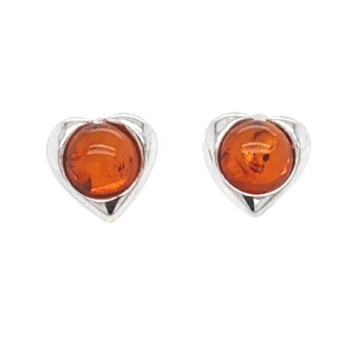 Genuine Baltic Amber Stud Earrings 227