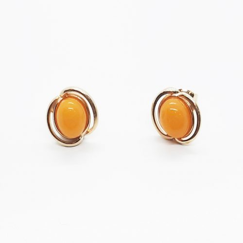 Genuine Baltic Amber Stud Earrings 231