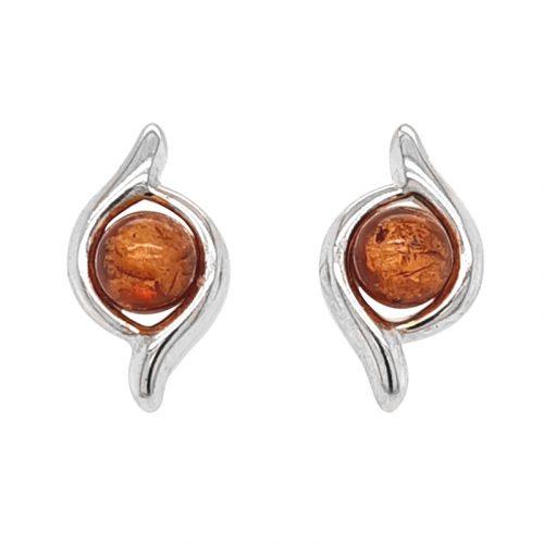 Genuine Baltic Amber Stud Earrings 232