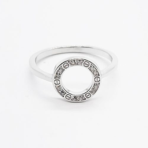 Sterling Silver CZ Circle of Life Ring