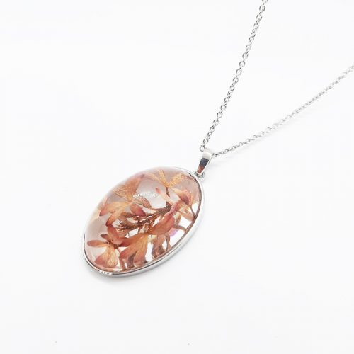 Abelia Medium Silver Necklace