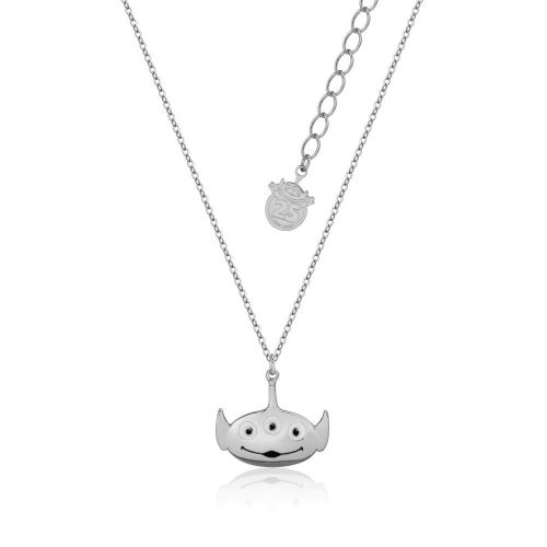 Disney Pixar Toy Story Alien Necklace White Gold