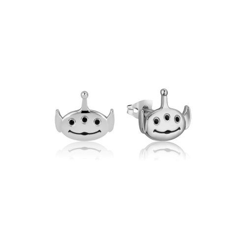 Disney Pixar Toy Story Alien Stud Earrings White Gold