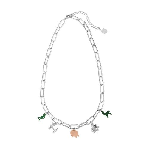 Disney Pixar Toy Story Charm Necklace White Gold