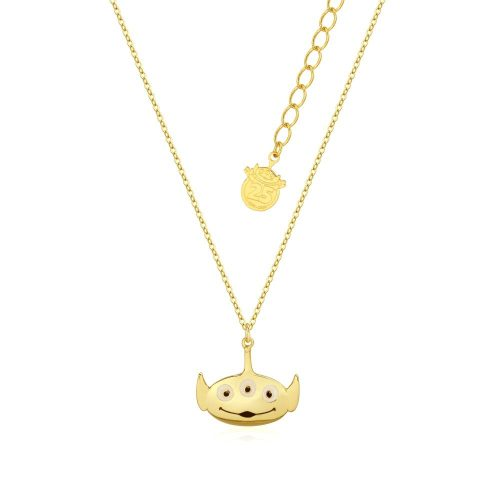 Disney Pixar Toy Story Alien Necklace Yellow Gold