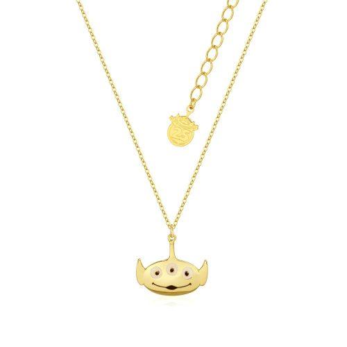 Disney Pixar Toy Story Alien Necklace Yellow Gold