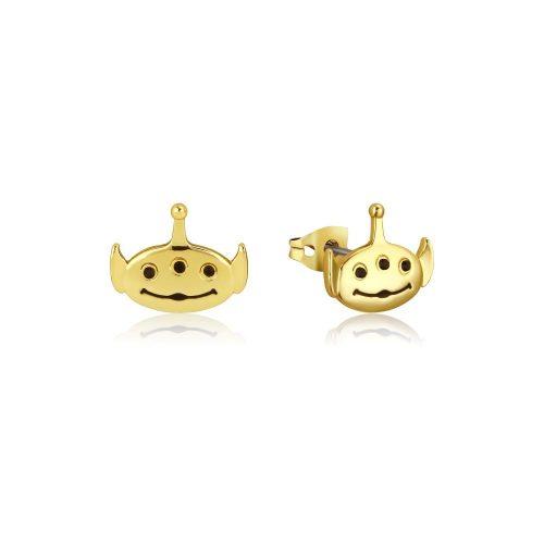Disney Pixar Toy Story Alien Stud Earrings Yellow Gold