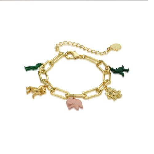 Disney Pixar Toy Story Charm Bracelet Yellow Gold