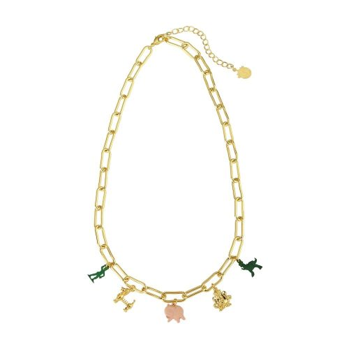 Disney Pixar Toy Story Charm Necklace Yellow Gold