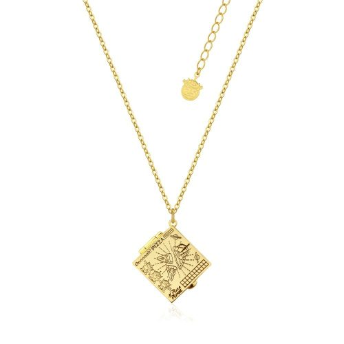 Disney Pixar Toy Story Pizza Planet Box Necklace Yellow Gold