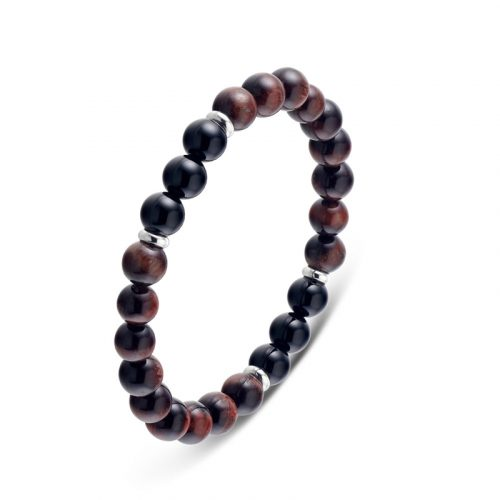 Tiger Eye and Agate Beads Bracelet 8 mm
