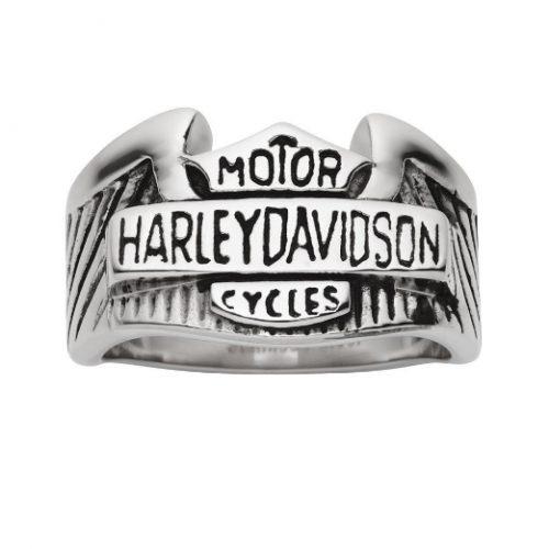 Stainless Steel Men's Motorbike Ring