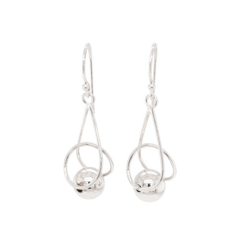 High Polished Sterling Silver Ball Earrings