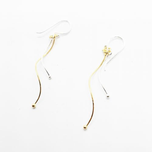 14K Yellow Gold Plated Sterling Silver Drop Earrings