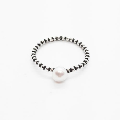 Fresh Water Pearl Oxidised Sterling Silver