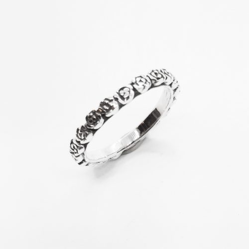 Sterling Silver Stackable Rose Band Ring