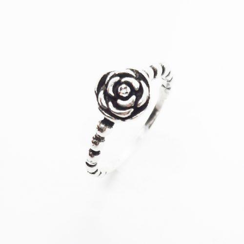 Sterling Silver Rose Flower Ring