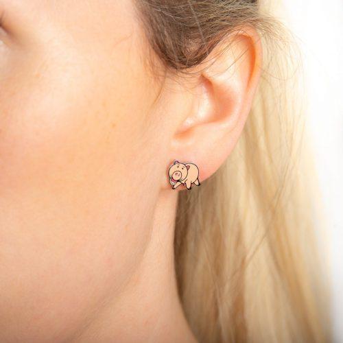 Disney Pixar ECC Toy Story Hamm Stud Earrings