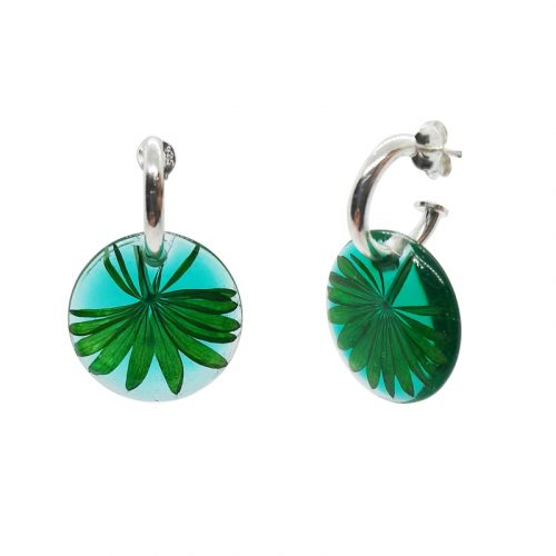 BOTANIGEM Emerald Palm Earrings