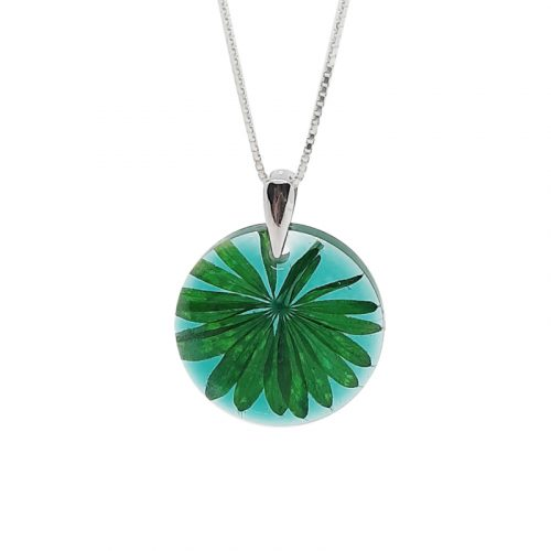 BOTANIGEM Emerald Palm Necklace