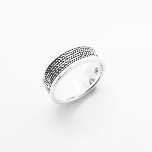 Sterling Silver Braid Patterned Ring