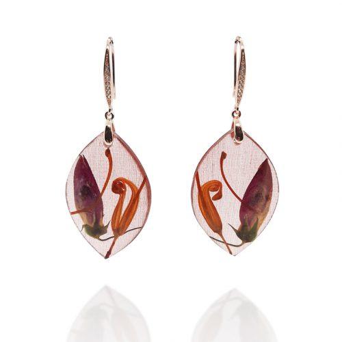 BOTANIGEM Red Centre Earrings