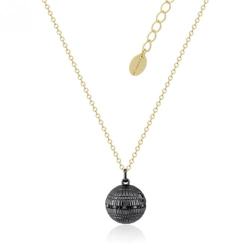 Star Wars Death Star Necklace Yellow Gold