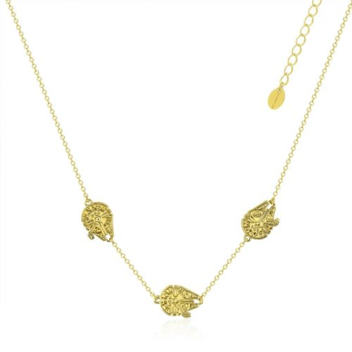 Star Wars Millennium Falcon Necklace Yellow Gold