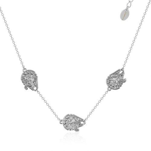 Star Wars Millennium Falcon Necklace White Gold