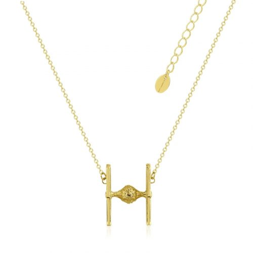 Star Wars TIE Fighter Necklace Yellow Gold
