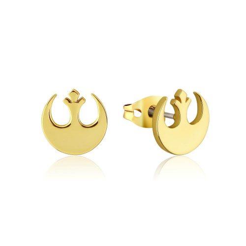 Star Wars Rebel Alliance Stud Earrings Yellow Gold