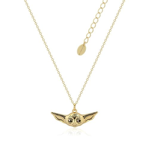 Star Wars The Mandalorian The Child Necklace Yellow Gold