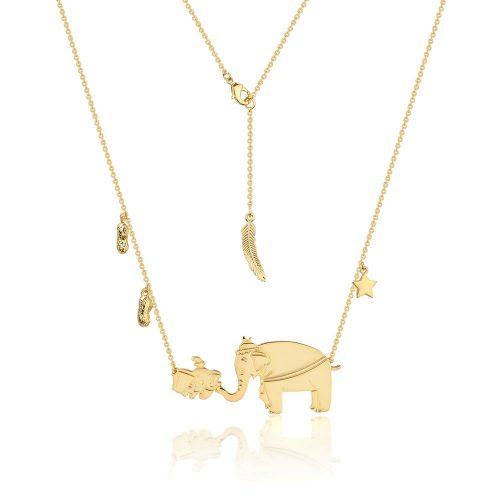 Disney Dumbo and Mrs Jumbo Necklace Yellow Gold