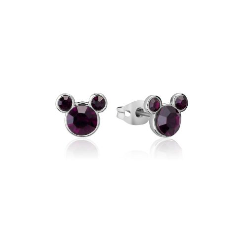 Disney ECC Mickey February Birthstone Stud Earrings