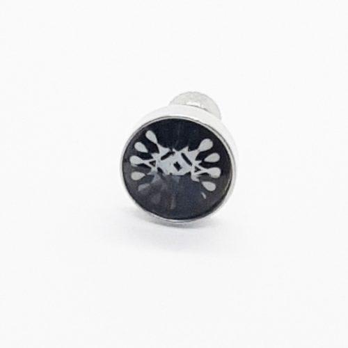 Printed Crystal Stainless Steel Earring
