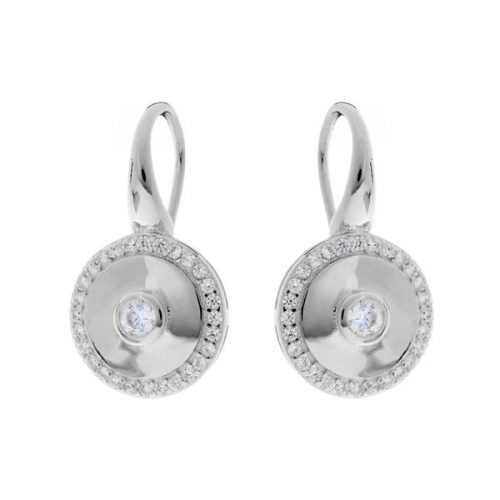 CHARLIE ROUND SILVER EARRINGS