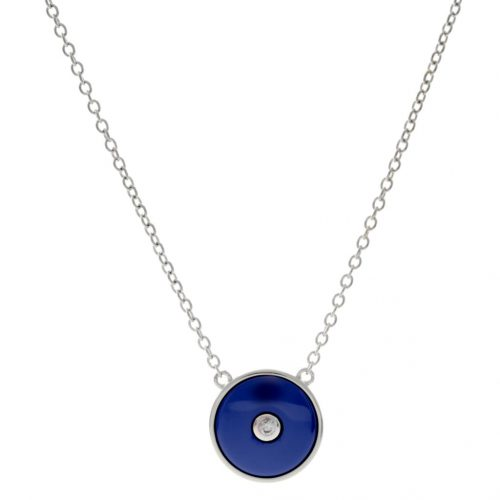 ROUND BLUE CERAMIC NECKLACE