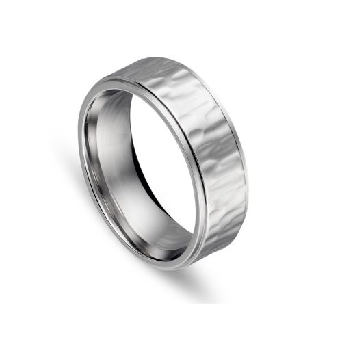 Stainless Steel Indent Pattern Ring