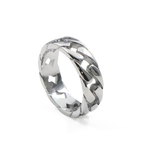 Stainless Steel Cuban Link Ring