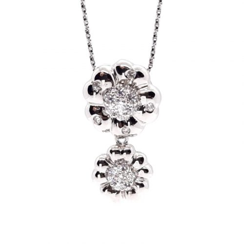 Cherry Blossom Silver Necklace