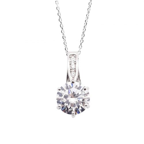 6 Prong Setting Solitaire Pendant