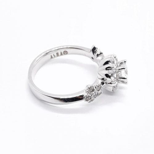ASHA Sterling Silver CZ Embedded Ring