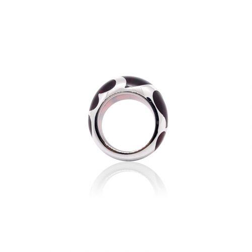 ASHA Sterling Silver Heart Resin Ring