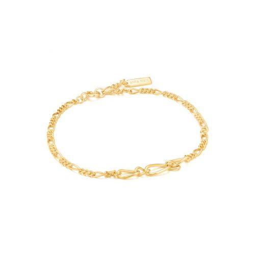 Gold Figaro Chain Bracelet