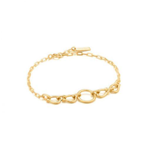 Gold Horseshoe Link Bracelet